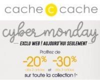 Cache Cache: Cyber Monday : - 20% dès 2 articles achetés ou - 30% dès 3