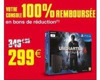 Auchan: Console PS4 Slim 1To + Uncharted 4 100% remboursée en bons de réduction
