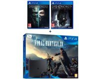 Cdiscount: PS4 Slim 1To + 3 jeux (Final Fantasy XV + Dishonored 1 & 2) à 349,99€