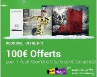 Fnac: 100€ offerts en chèque cadeau pour l'achat d'un pack Xbox One S (= 199€ le pack)