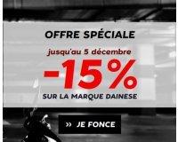 Motoblouz: 15% de remise immédiate sur la marque Dainese cumulable avec le code en cours