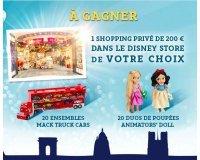 Disney Store:  1 shopping privé dans l'un des 5 Disney Store & 20 lots de jouets à gagner