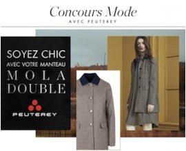 """Elle: 3 manteaux """"Mola Double"""" Peuterey en nylon et flanelle de laine à gagner"""