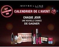 Gemey Maybelline: Calendrier de l'Avent : 24 lots cosmétiques à gagner