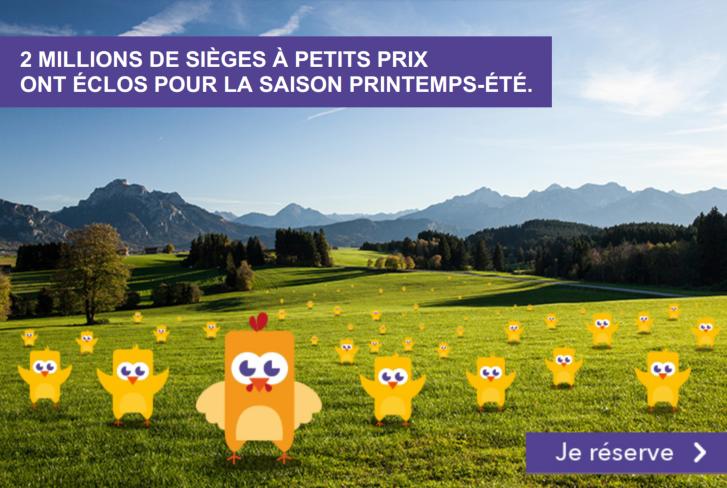 Code promo Voyages SNCF : Ouverture ventes printemps - été : Votre billet de train IDTGV dès 19€ l'aller