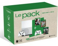 Darty: Pack Xbox one S blanche : 2 mannettes, Mafia3, GTA5, GOW4 a 329,90€