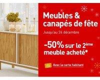 Habitat: - 50% sur le 2ème meuble acheté
