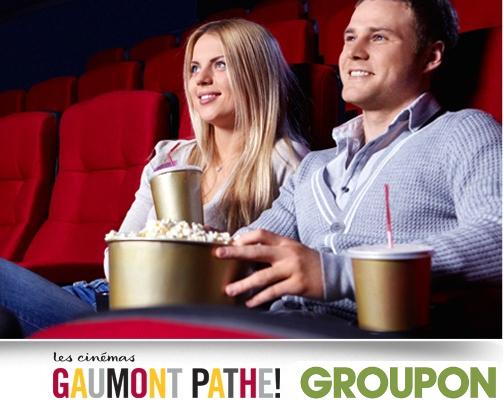 Code promo Groupon : 1 place de cinéma Gaumont et Pathé du 3 au 31 janvier 2017 à 5,90€