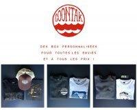 COONTAK: 1 box personnalisée achetée = 1 cadeau offert parmi une casquette et un t-shirt