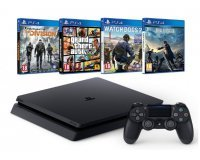 Amazon: Pack PS4 Slim + Final Fantasy XV + Watch Dogs 2 + GTA V + The Division à 349,99€