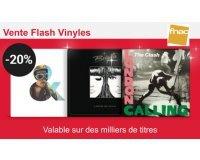Fnac: -20% sur des milliers de vinyles cumulable avec les 10€ offerts tous les 100€