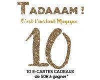 Promod: Story de l'Avent 10ème jour : 10 e-cartes cadeaux de 50€ à gagner