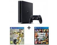 Auchan: Pack Console PS4 500 Go + FIFA 17 + GTA 5 à 319,99€