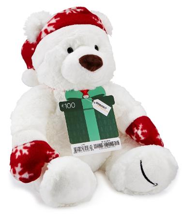 Code promo Amazon : 1 carte cadeau de 150€  achetée = 1 peluche offerte + livraison en 1 jour ouvré