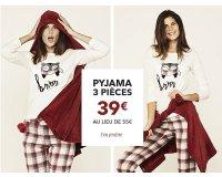 Etam: Sélection de pyjamas 3 pièces à 39€ au lieu de 55€