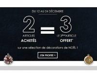 Alinéa: 2 articles achetés = le 3e offert sur une sélection de décorations de NOËL