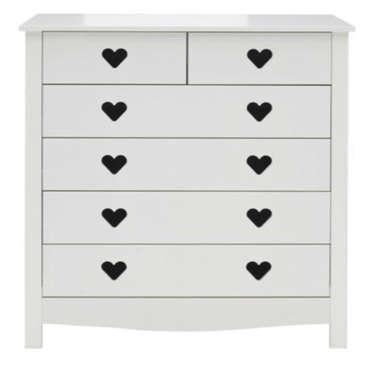 commode enfant 6 tiroirs 129 99 conforama. Black Bedroom Furniture Sets. Home Design Ideas