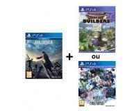 Fnac: Final Fantasy XV + Dragon Quest Builders ou World of Final Fantasy pour 69,90€