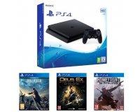 Amazon: PS4 Slim 500 Go+ Final Fantasy XV + Deus Ex Mankind Divided + Homefront à 329€