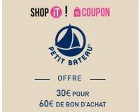 Showroomprive: Payez 30€ le bon d'achat Petit Bateau d'une valeur de 60€