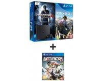 Auchan: Console PS4 Slim 1To + 3 jeux (Uncharted 4, Watch dogs 2 & Battleborn) à 299,99€