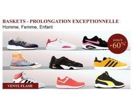 La Redoute: Vente Flash : jusqu'à -60% sur une sélection de baskets Adidas, New Balance...