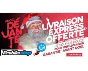 Probikeshop: La livraison Chronopost offerte avant Noël dès 50€ (hors produits volumineux)