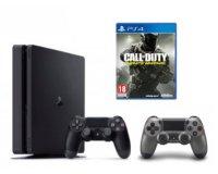 Micromania: Pack PS4 Slim 500 Go + 2e manette + Call of Duty Infinite Warfare à 289,99€