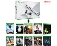 Auchan: Xbox One S 500Go + 10 jeux (Titanfall, Sleeping Dogs, CoD Ghosts...) à 319,99€