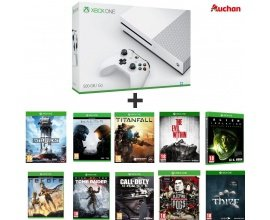 Auchan: Xbox One S 500Go + 10 jeux (Titanfall, Sleeping Dogs, CoD Ghosts...) à 319,99€