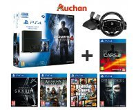 Auchan: Pack Playstation 4 1To + 6 jeux (Uncharted 4, Project Cars...) + volant T80RW