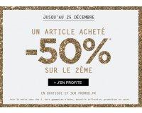 Promod: Un article acheté, le 2ème à - 50%