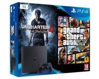 Rue du Commerce: Nouvelle PS4 Slim 1To + 2 jeux (Uncharted 4 et GTA V) pour 319€