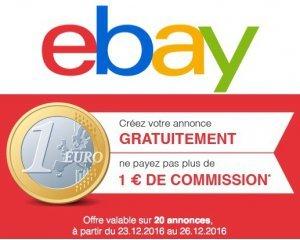 eBay: Revente cadeaux : publiez 20 annonces pour 1 euro de frais de commission