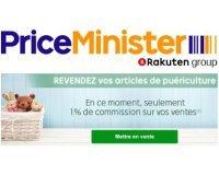 PriceMinister: Revente articles puériculture : seulement 1% de commission sur vos ventes