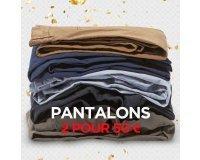 Celio*: 2 pantalons pour 50€ au lieu de 80€