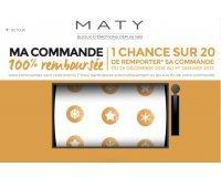 MATY: Commandez pour au moins 120€ & tentez de gagner le remboursement de votre achat