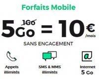 SFR: Forfait mobile tout illimité + 5 Go d'Internet à 10€ / mois sans engagement