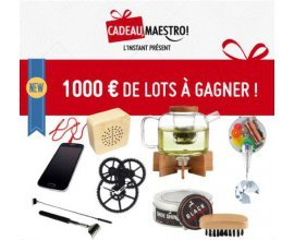 Cadeau Maestro: 1000€ de cadeaux originaux à gagner