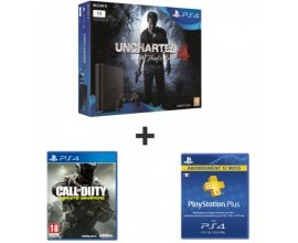 Auchan: PS4 Slim 1To + Uncharted 4 + CoD Infinite Warfare + 1 an PS Plus à 349,99€