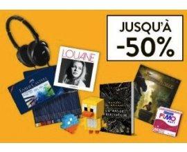 Cultura: Le mois des prix fondus : jusqu'à -50% sur une sélection d'articles