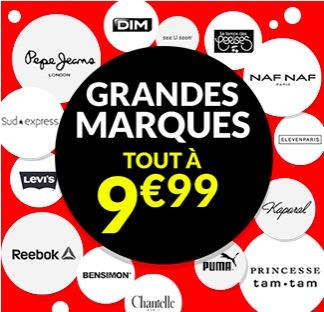 Code promo Excédence : Grandes marques : tout à 9,99€