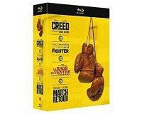 Amazon: Coffret Blu Ray : Creed + The Fighter + La rage au ventre + Match retour à 15€