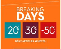 Brice: Breaking Days : -20% sur votre 1er article, -25% sur le 2e et -30% sur le 3e