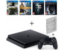 Cdiscount: PS4 Slim 500Go + 4 Jeux: CoD IW + Destiny + Dishonored 1 & 2 + SteelBook à 359€