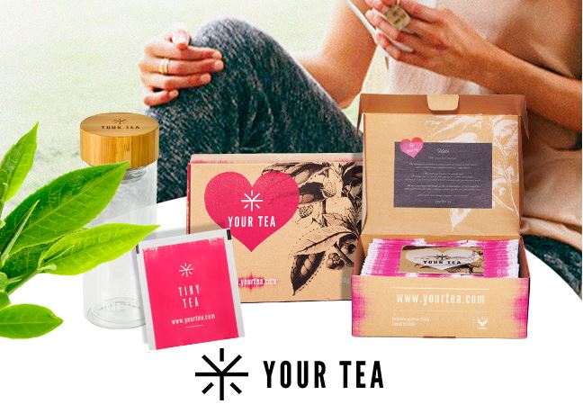 Code promo Femina : 74 lots Tiny Tea 28 jours de Your Tea + mug en verre à gagner