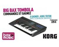 Bax-shop: Une chance de gagner un synthétiseur Korg Triton taktile-25 avec chaque achat