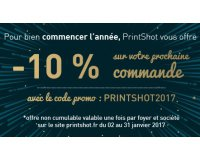 Printshot: 10% de réduction immédiate sans minimum d'achat