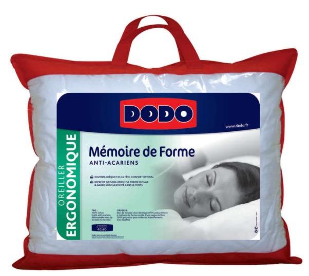 Code promo Conforama : Oreiller à mémoire de forme 40 X 60 cm DODO à 26,25€