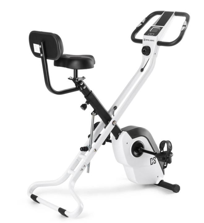 Code promo eBay : Vélo d'appartement pliable dossier pulsomètre inertie 4kg 8 niveaux à 149,99€
